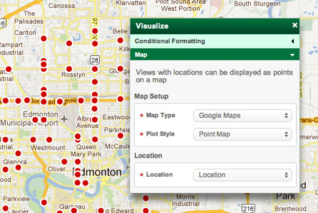 Easily create points on a map from any  location data.